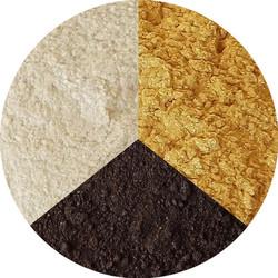 Набор теней №2 (с блеском, белые, коричневые, золотые)